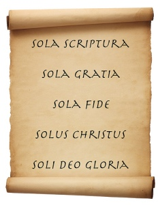 Five Solas Scroll