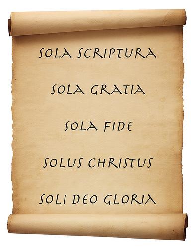 Five Solas Scroll