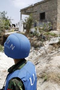United Nations Photo #123784 by Mark Garten of blue helmet dork