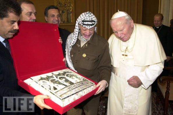 Arafat and Pope