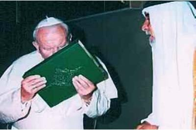 Paul John Paul II Kissing the Koran