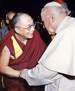 Pope and Dali Lama