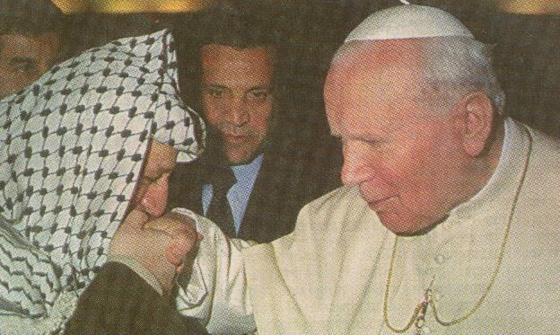 Pope and Yassir Arafat